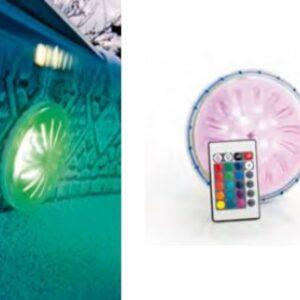 Faretto magnetico LED COLOR per piscina fuori terra con telecomando a distanza